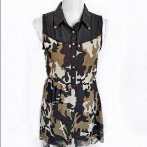 Indulge Camouflage Dress Small